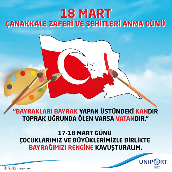 18 Mart Canakkale Zaferi Gunu Bayrak Boyama Etkinligi Uniport